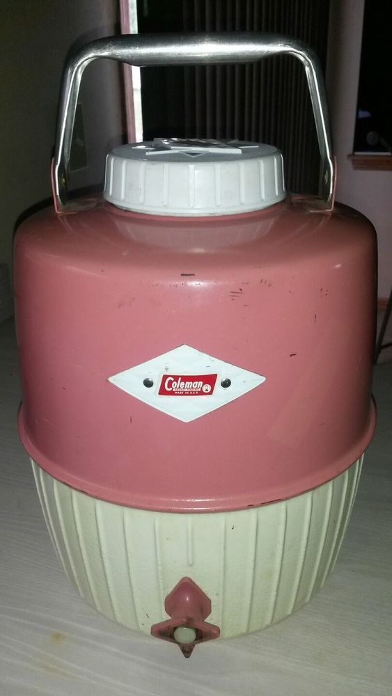 Rare Vintage Coleman Patio Pink 2 Gallon Picnic Camping Water Jug Cooler Camping Water Jug Picnic Vintage Theme