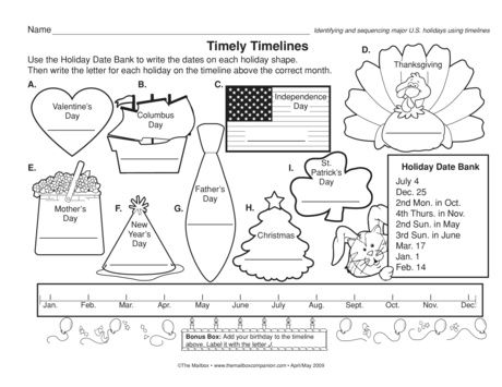 Timely Timelines Lesson Plans The Mailbox First Day Of School Activities Social Studies Worksheets School Activities Timeline worksheet for 2nd grade