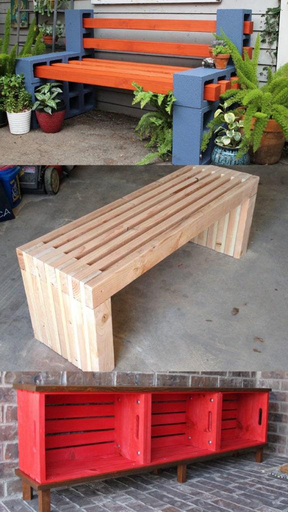 21 Gorgeous Easy DIY Benches (Indoor & Outdoor!)   Diy ...