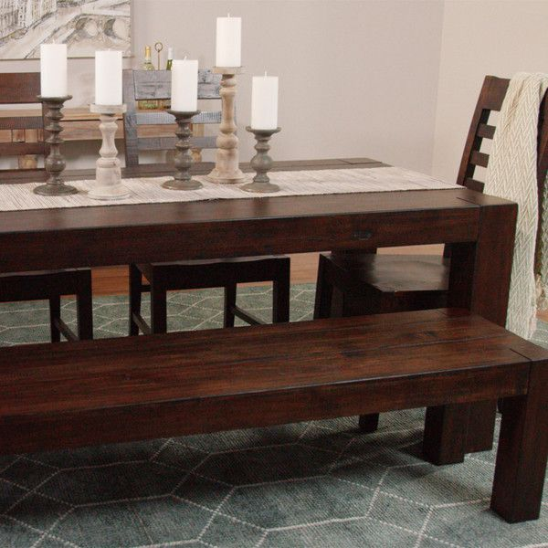 Distressed Wood Donnovan Fixed Dining Table World Market 275 Liked On Polyvore Featur Rustic Dining Room Dining Room Centerpiece Distressed Wood Furniture