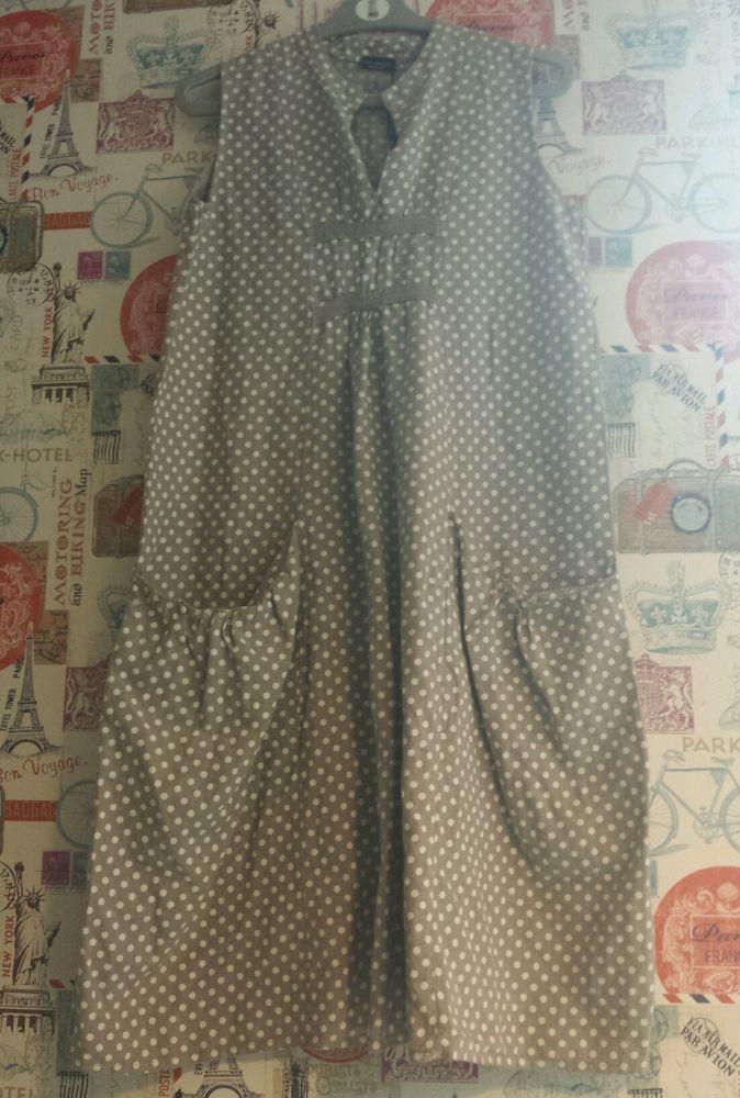 2f7bf5d92e0 Made in italy LUCA VANUCCI beautiful lagenlook Linen Dress M (14)   MadeinitalyLUCAVANUCCI