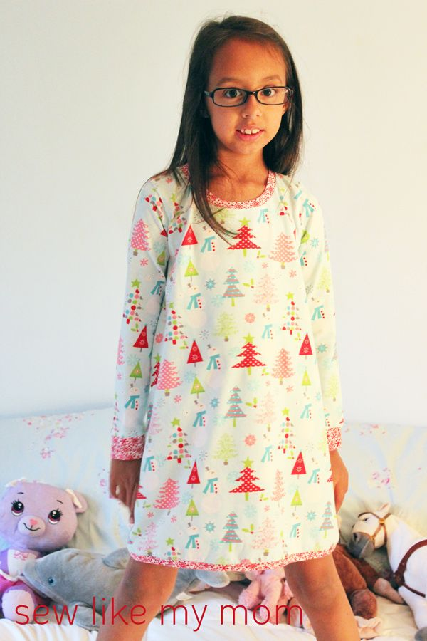Sew Like My Mom | Clover Nightgown - free pattern! | Sewing for Kids ...