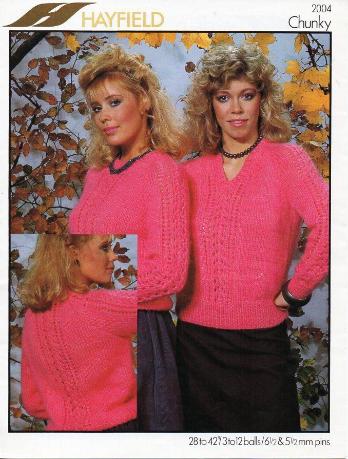 ladies sweater knitting pattern PDF womens chunky jumper pattern ...