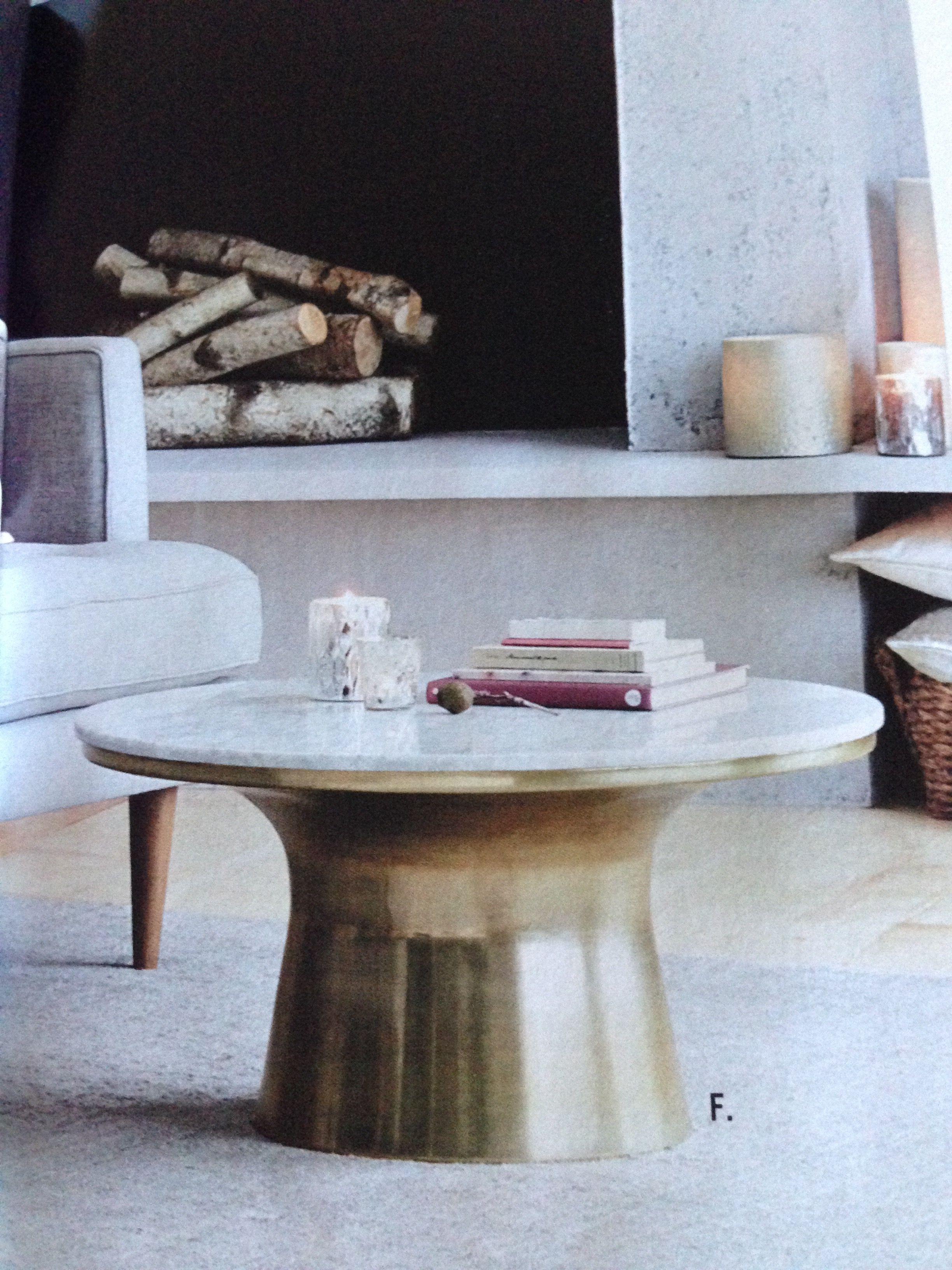 west elm round brass coffee table Objects I like