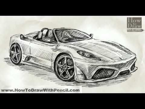 How To Draw Car Ferrari Scuderia Spider 16m Youtube Art In 2019