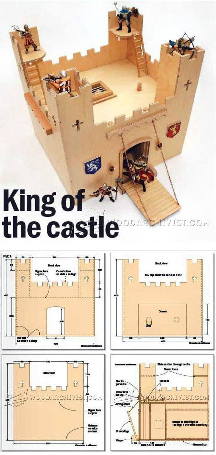 Wooden Castle Plans - Wooden Toy Plans and Projects | WoodArchivist.com
