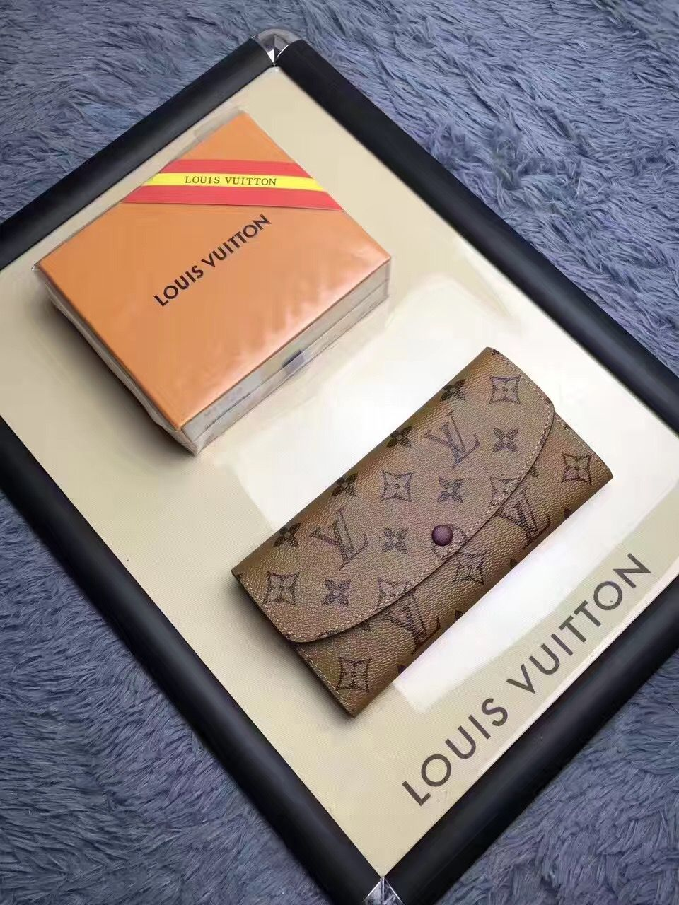 cb8c60d0da916 Authentic Quality 1 1 Mirror Replica Louis Vuitton Emilie Wallet ...