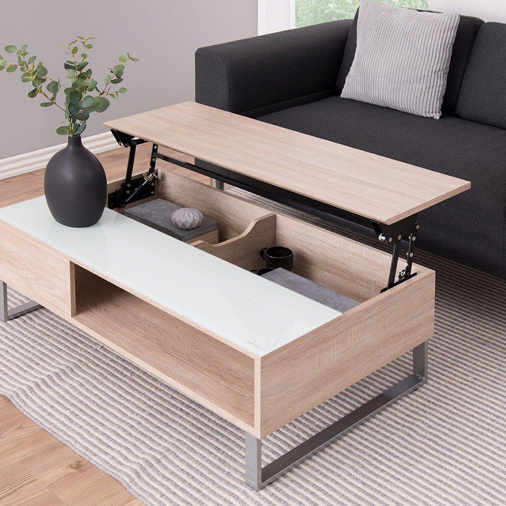 10 Tables Basses Relevables Pour Optimiser L Espace Dans Votre Salon Coffee Table With Storage Lift Top Coffee Table Interior