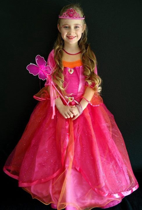 nuevas imágenes de Nuevos objetos chic clásico Disfraz princesa fucsia. Vestido seguro. De 5 a 7 años ...