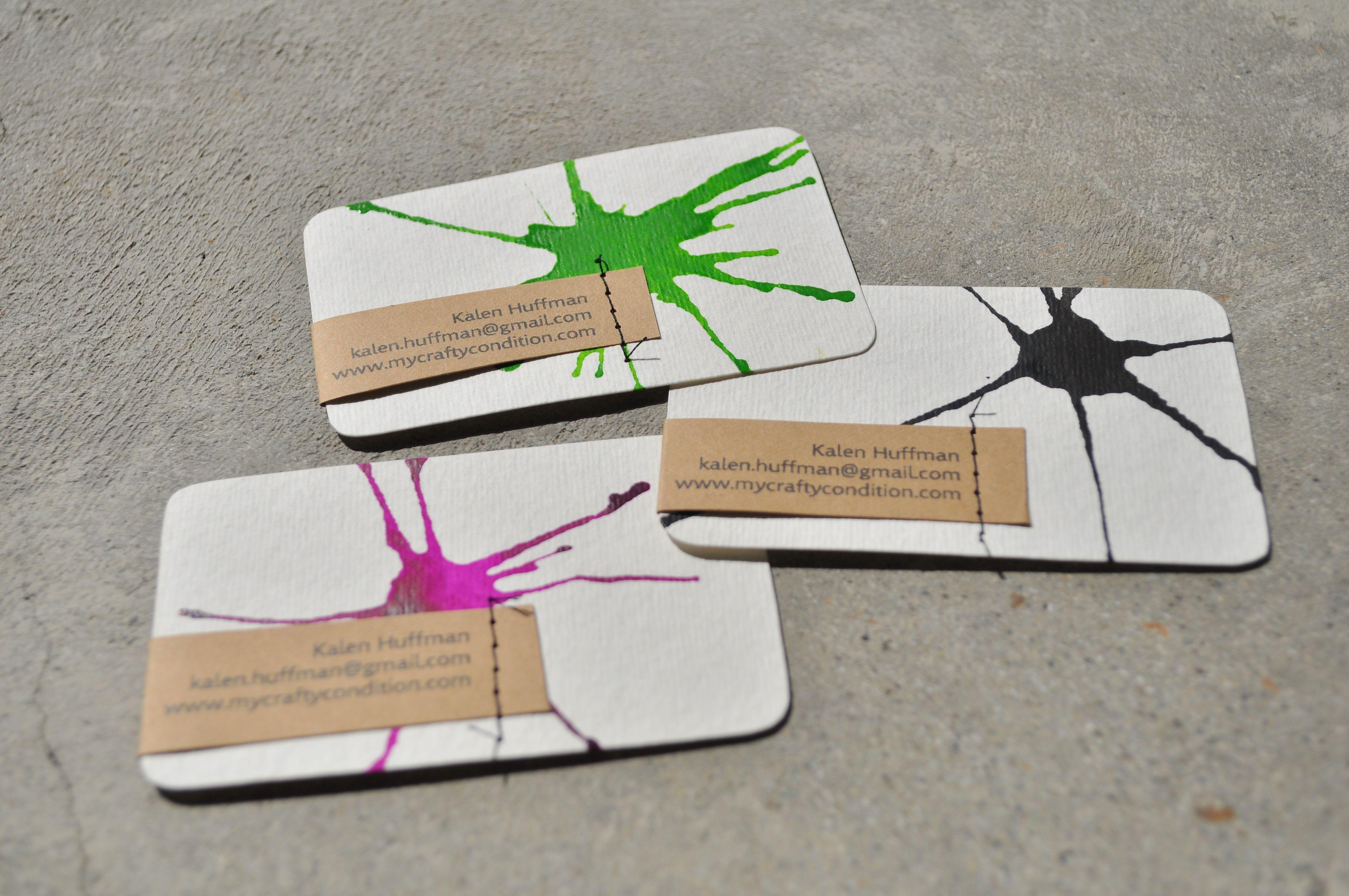 home made buisness cards