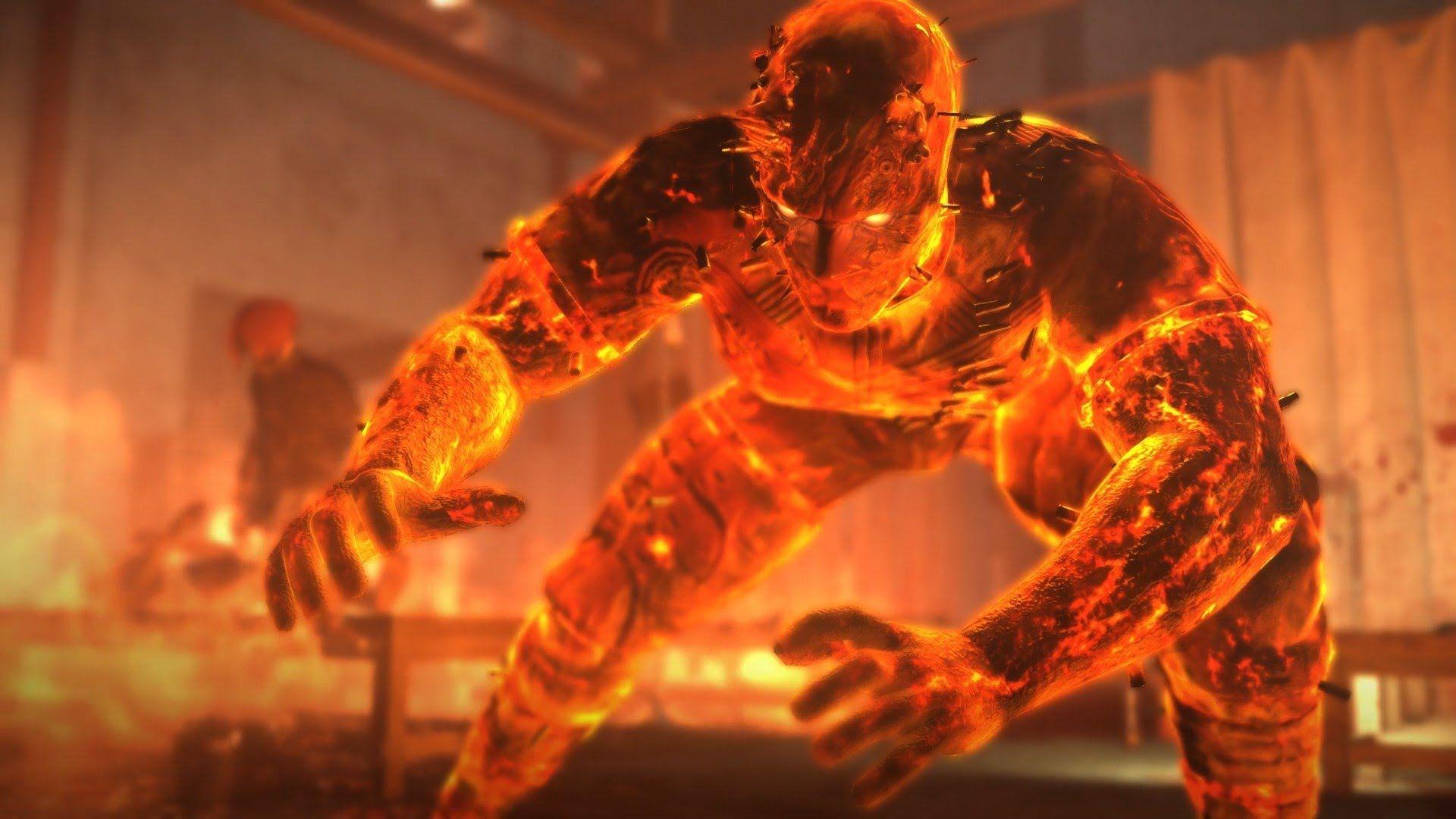 Metal Gear Solid 5 Man On Fire Boss Fight 1080p 60fps Youtube