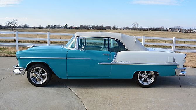 1955 Chevrolet Bel Air Convertible 402 Ci 5 Speed Presented As