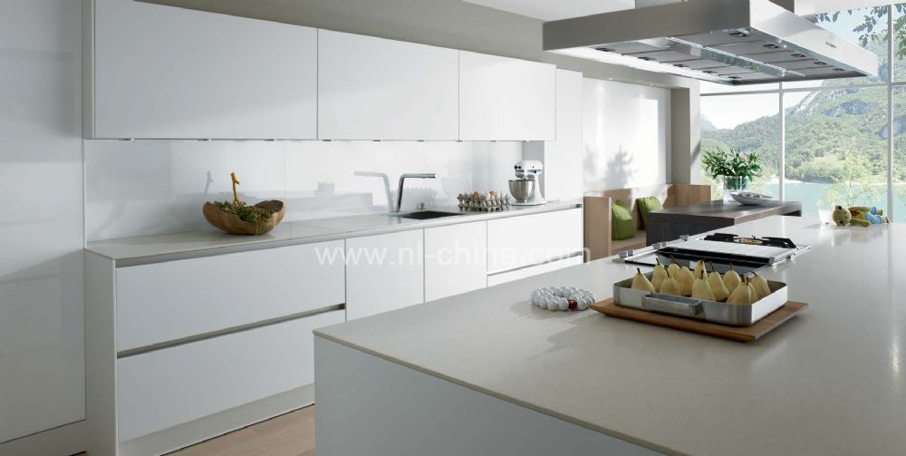 White Lacquer Kitchen Cabinets | Contemporary kitchen ...