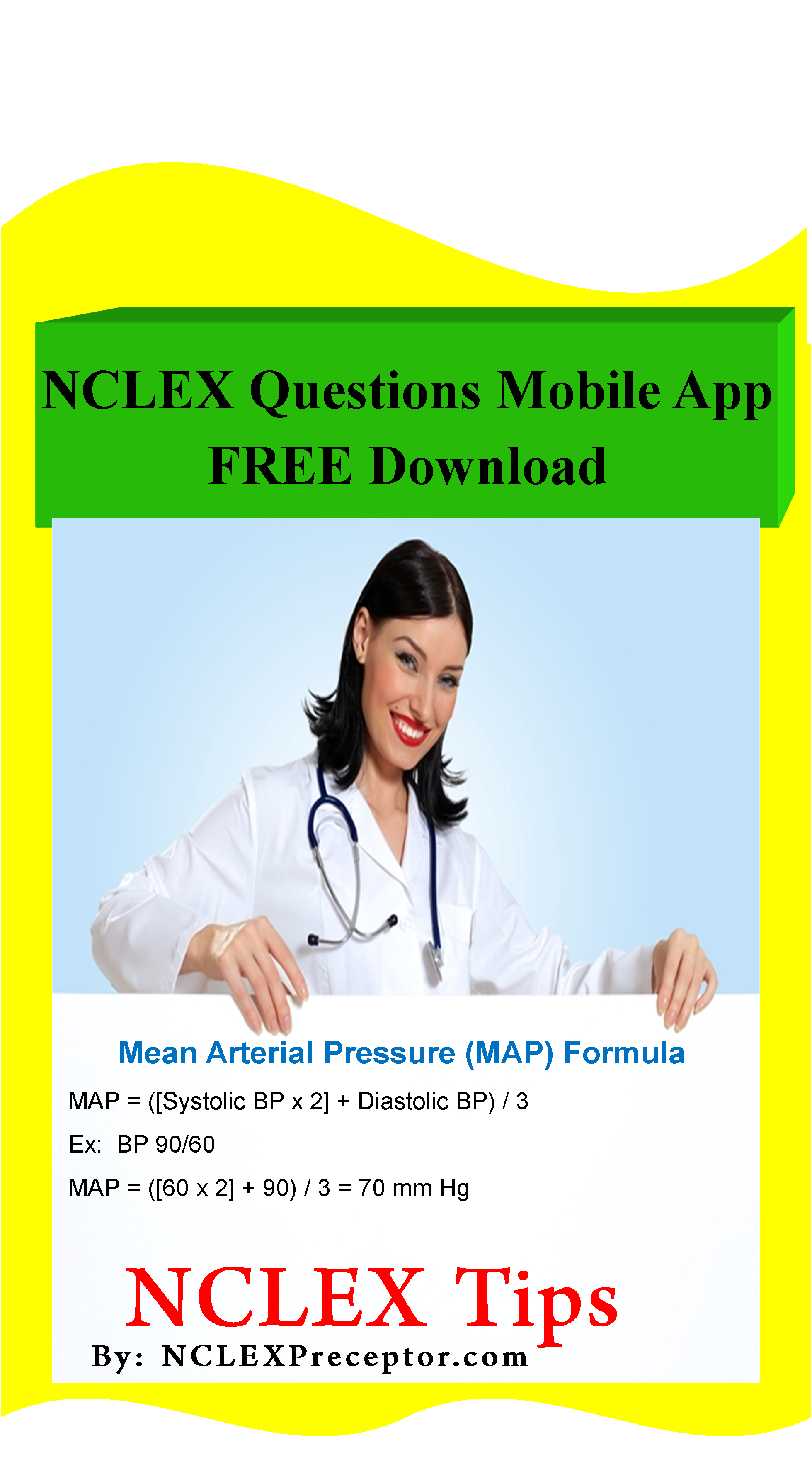 Calculate Mean Arterial Pressure Map Nclex Questions Mobile App Learn Nclex Tips Amp Get