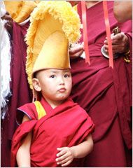 """The film """"Unmistaken Child"""" documents the 4-year search of Tenzin Zopa, a 28-year-old Nepalese monk, for the reincarnation of his Tibetan master, Geshe Lama Konchog, who died in 2001"""