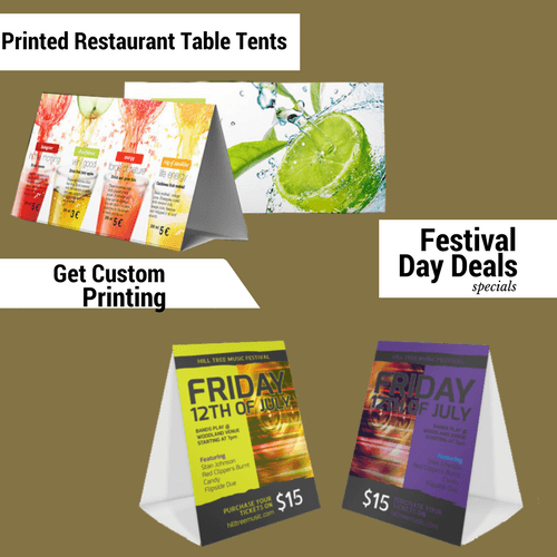 printed table tents 5 tips to get enhanced business table tents