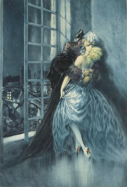 "Louis Icart, ""Lovers"" 