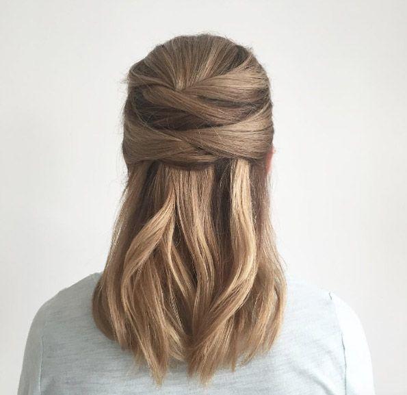 Criss Cross By Jennie Kay Plumb Hair Styles Straight Hairstyles Straight Hair Updo