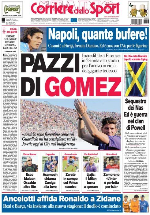 OGGI IN EDICOLA Calciomercato Fiorentina pazzi