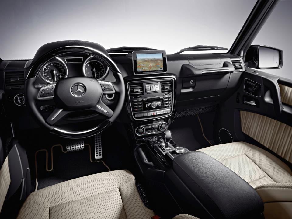 Interior Of The Mercedes Benz G Class European Model Shown With