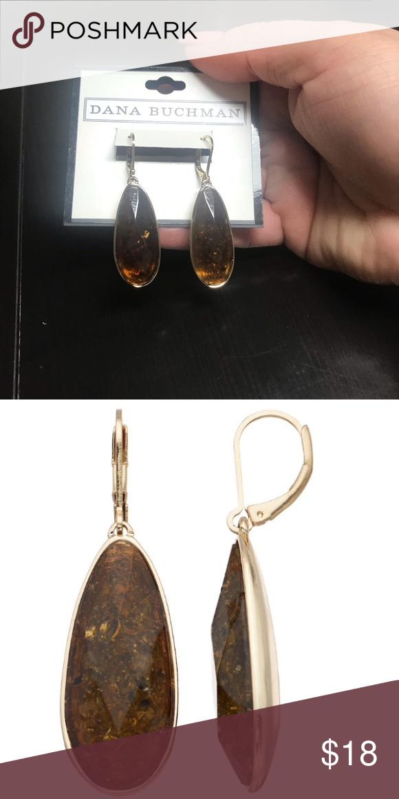 42d262841 Dana Buchman Simulated Stone Teardrop Earrings Brand new! Very pretty!  EARRING DETAILS • Length