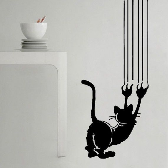 Cool Cat Art for Walls | Koty | Pinterest | Cat, Walls and ...