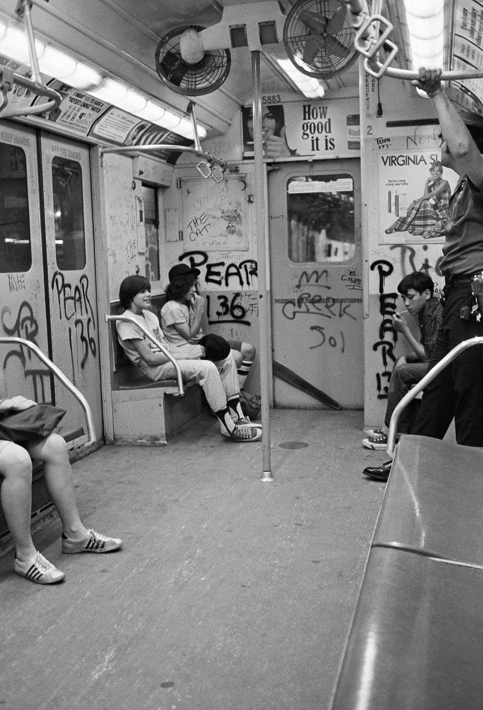Scenes from the New York City Subway in the 1970s New