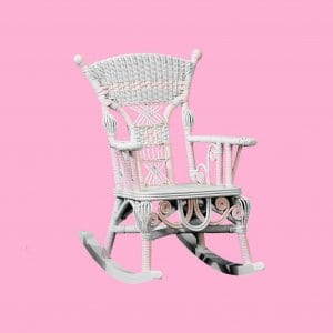 Arm Chair In Flamingo Pink Rocking Chair Personalized
