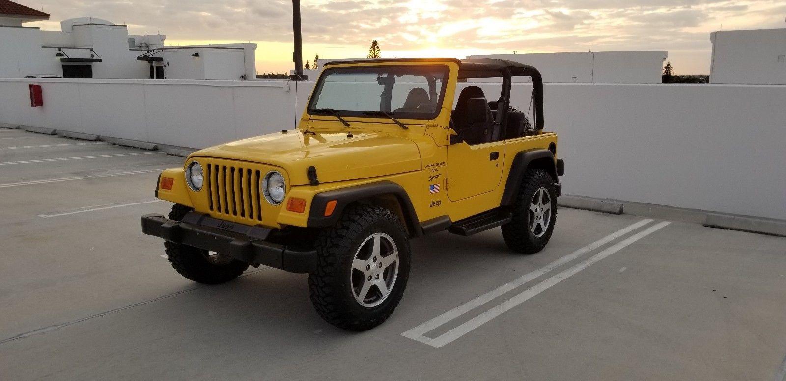 Ebay 2000 Jeep Wrangler Sport 2000 Jeep Wrangler Sport 4 0l 5