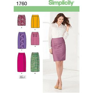 Simplicity Pattern Misses' Skirts, (6, 8, 10, 12, 14)