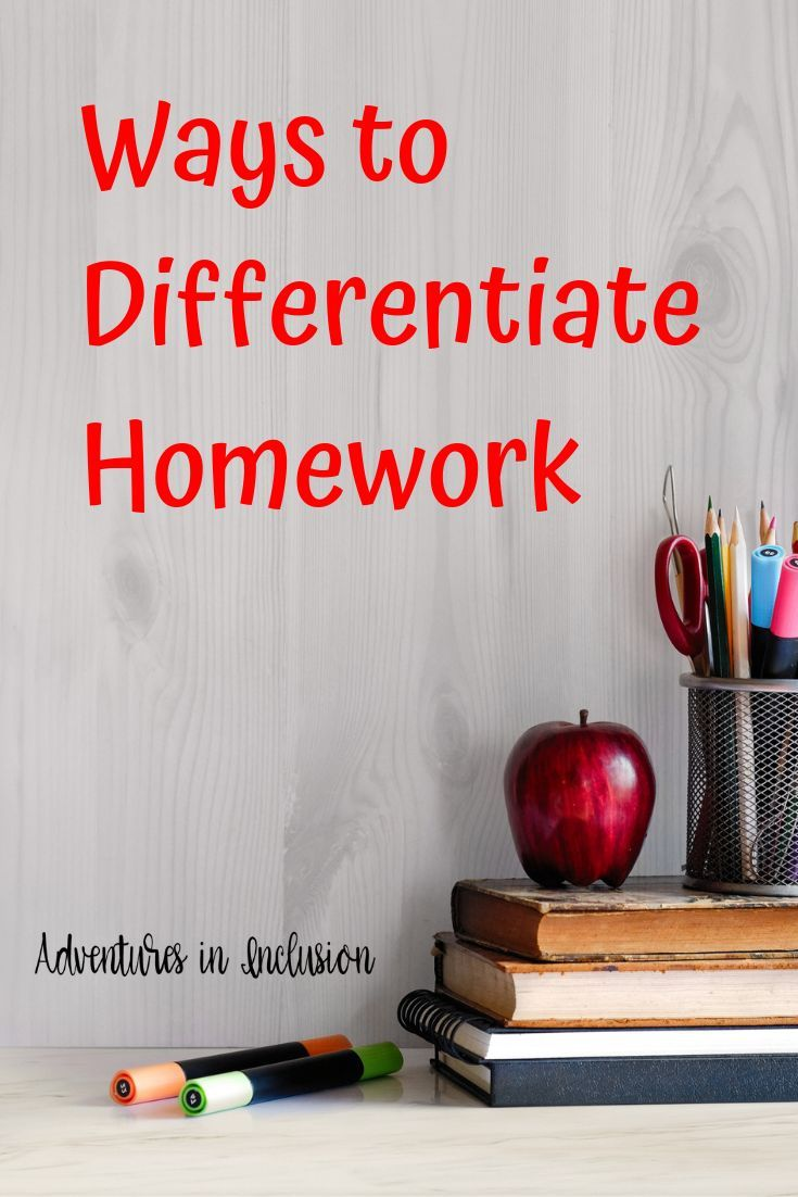Ways to Differentiate Homework is part of Differentiated homework, Differentiation, Middle school math resources, Differentiated instruction, Differentiated instruction middle school, Middle school math homework - Ways to differentiate homeowrk in your middle school classes across all content areas in order to reach all of your students