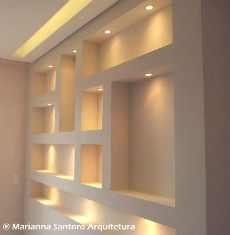 Nichos alvenaria escrit rio pesquisa google casa for Drywall designs living room