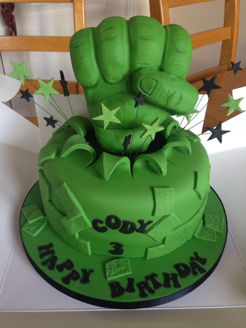 Hulk smash cake Pinteres