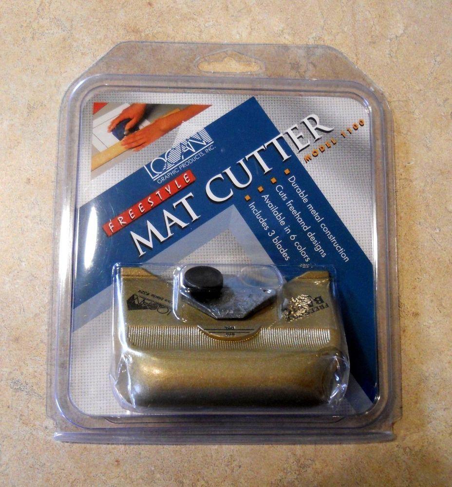 Mat Cutter Logan Freestyle Basic Hand Held Push Style 1100 New 3 Blades Freehand Logan Metal Construction Frame Matting Mats