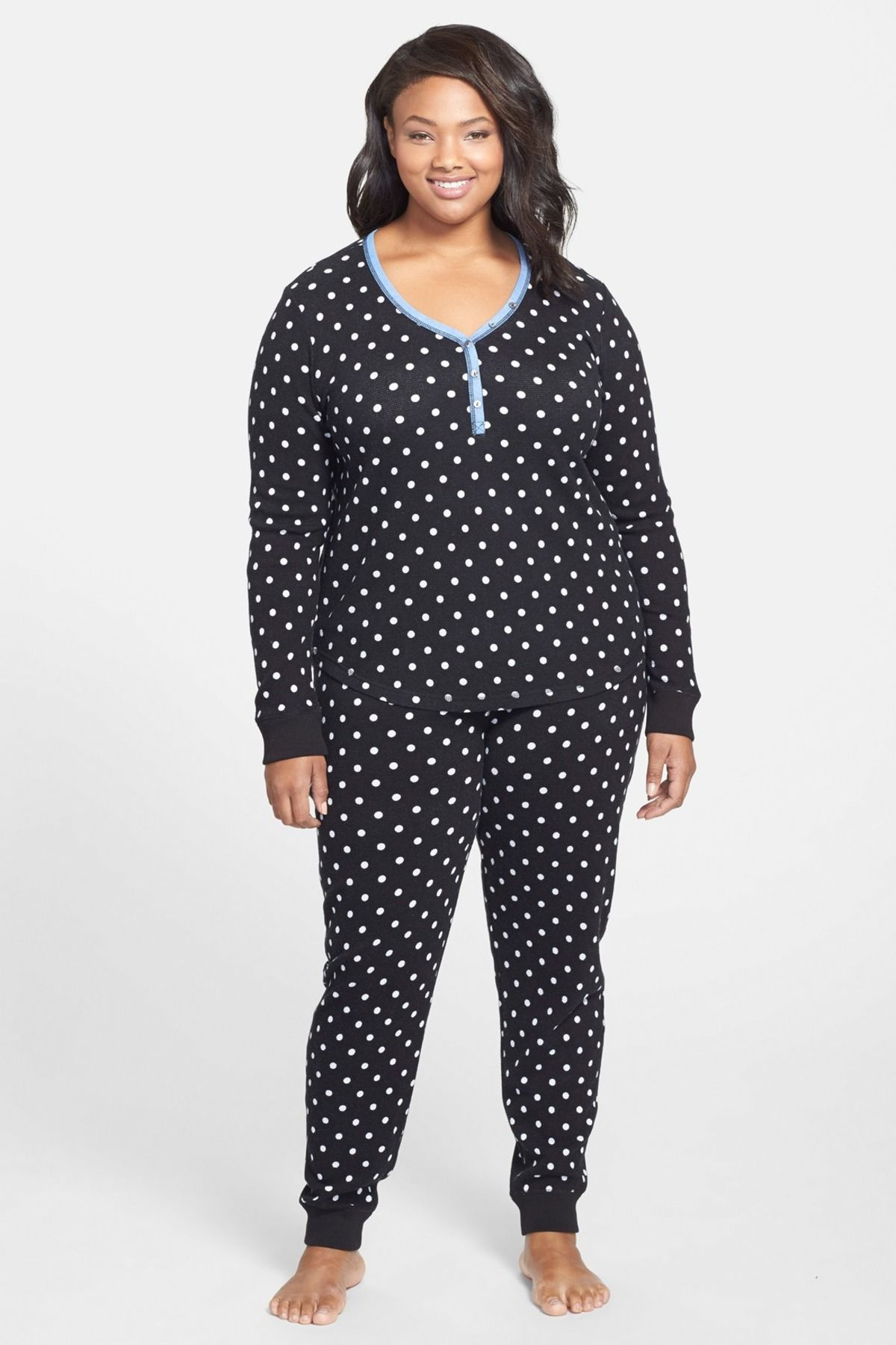 Long Sleeve Thermal Pajamas (Plus Size) by PJ SALVAGE on  nordstrom rack 3bbbbff5a