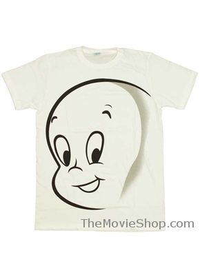 390795ed6 Casper T-Shirt, Casper The Friendly Ghost Face White | Casper The ...