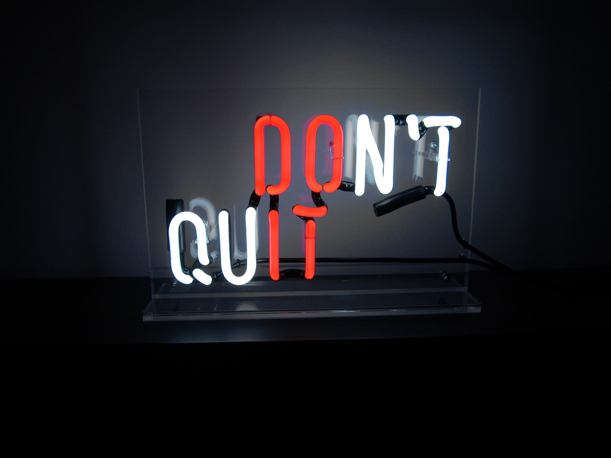 Motivation Neon Quotes Wallpaper