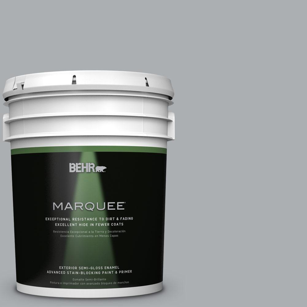BEHR MARQUEE 5-gal. #N500-3 Tin Foil Semi-Gloss Enamel Exterior Paint