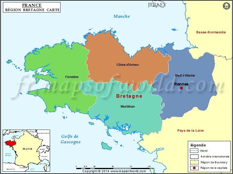 Carte De Bretagne Mapas