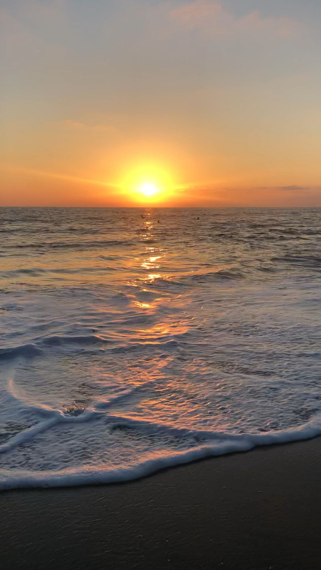 Photo of strand solnedgang