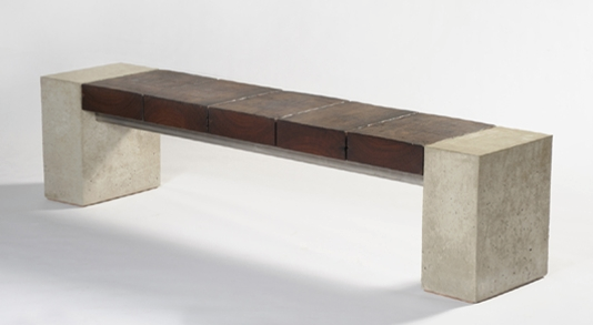 Concrete Bench With Timber Seat Concrete Furniture Rustic