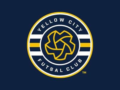 Yellow City Futsal Club Soccer Logo Sports Logo Design Sports Logo