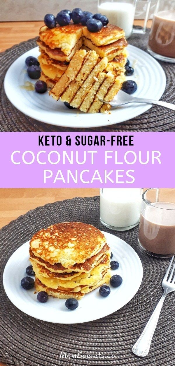 Best Low Carb & Keto Pancakes with Coconut Flour
