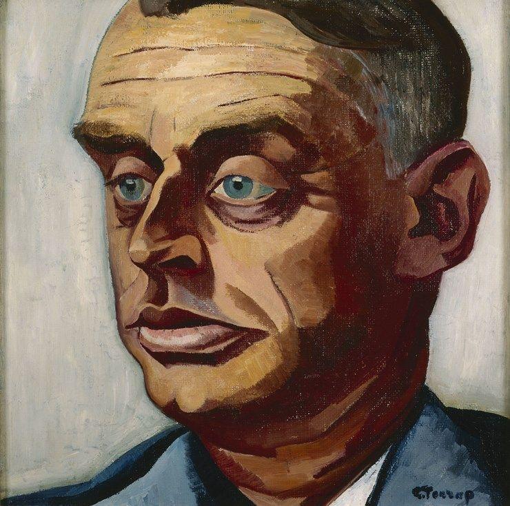 Charley Toorop - Albert Plasschaert (Sas van Gent 1874-1941 Rijswijk), kunstcriticus, 1927. Stedelijk Museum Amsterdam