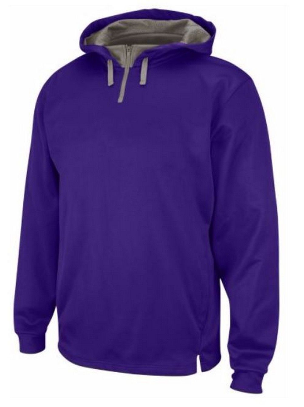 ccd45fa32 Majestic Men's Therma Base Fleece Solid Purple Pullover 1/4 Zip Hoodie  A161-M235