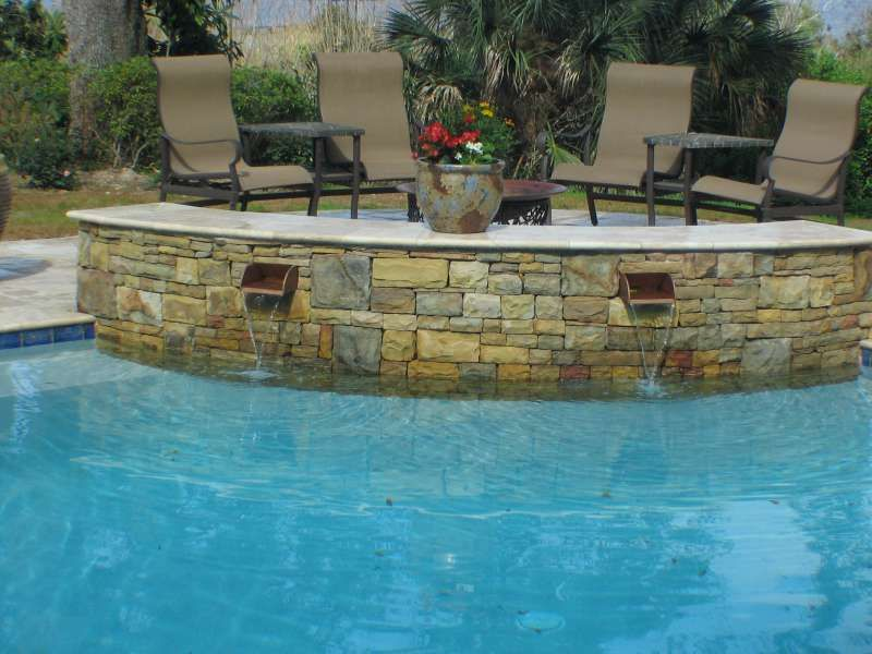 Scuppers swimming pool installer jacksonville florida for Landscaping rocks jacksonville