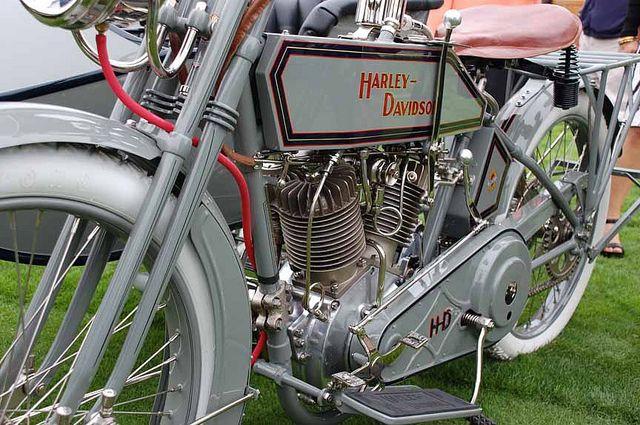 1915 Harley Davidson With Sidecar