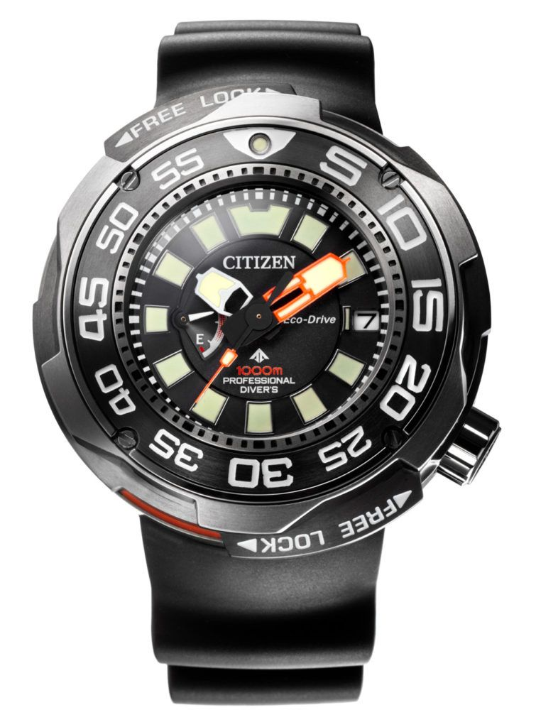 89e90f768ac Citizen launches probably the most durable dive watch in their collection. Promaster  Eco-Drive Professional Diver 1000m. Automatic helium release valve