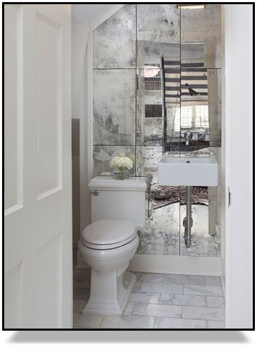Inspiration To Create Your Own Antique Mirror Wall Using The Amy