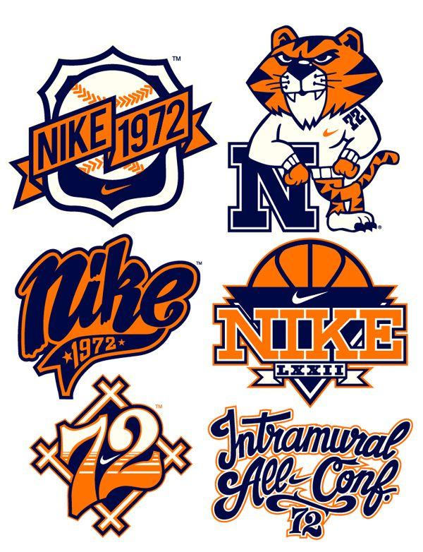 NIKE x 123KLAN Vintage serie by 123KLAN , via Behance